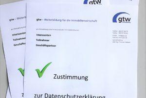 Zustimmung zum Datenschutz nach DS-GVO